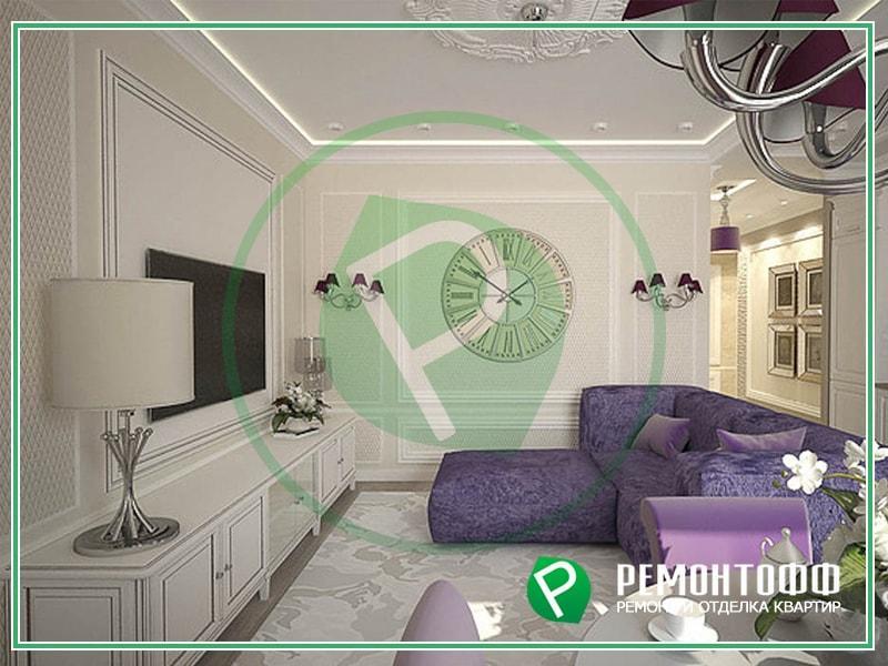 Дизайн гостиной 18м2